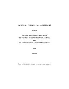ACTRA Agreement cover