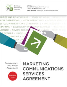 Marketing Communications Service Agreement - 5th edition (2018) - cover