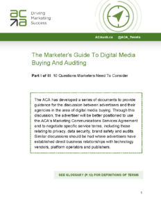 The Marketer's Guide To Digital Media Buying And Auditing cover