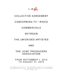 UDA Television and Radio Agreement cover