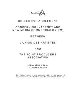 UDA Internet and New Media Agreement