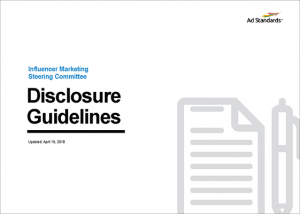 Influencer Marketing Steering Committee Disclosure Guidelines
