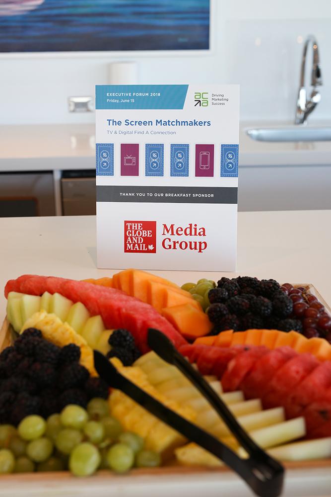 Our breakfast sponsor, Globe Media Group, provided a tasty spread.