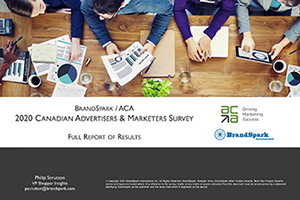 2020 Brandspark-ACA Advertisers and Marketers Survey Report Cover