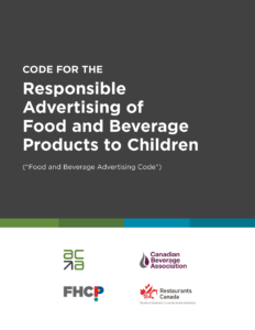 Code for the Responsible Advertising of Food and Beverage Products to Children