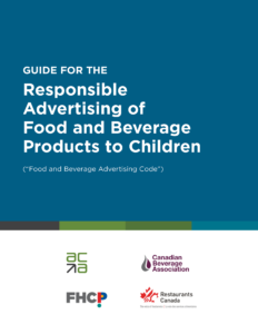 Guide for the Responsible Advertising of Food and Beverage Products to Children
