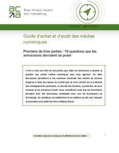 Guide d'achat et d'audit des médias numériques
