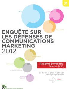 Enquête sur les dépenses de communications marketing