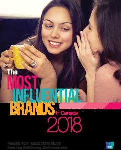 Les marques les plus influentes au Canada 2018