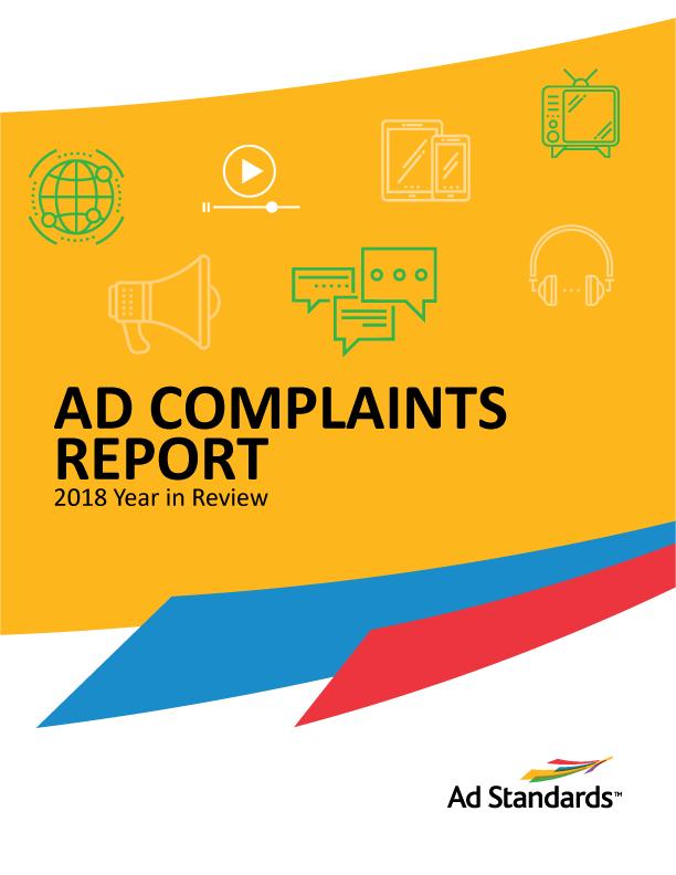 Rapport des plaintes contre la publicité 2018