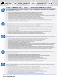 Sécurité des marques - Guide de référence du MRC