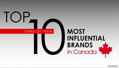 Les 10 marques les plus influentes au Canada