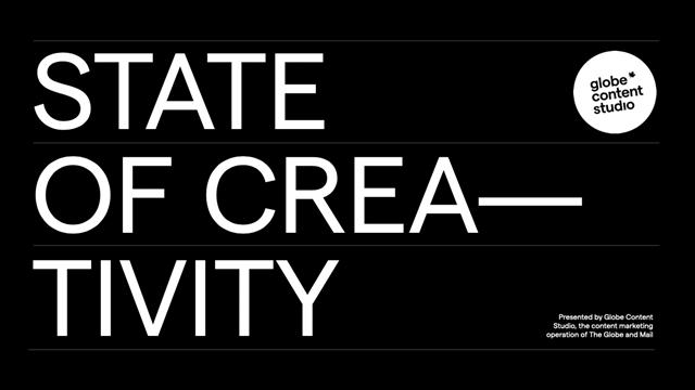 State of Creativity – Globe Content Studio écrit en noir et blanc